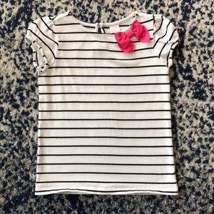 Janie and Jack Bow Striped Top-Big City Chic